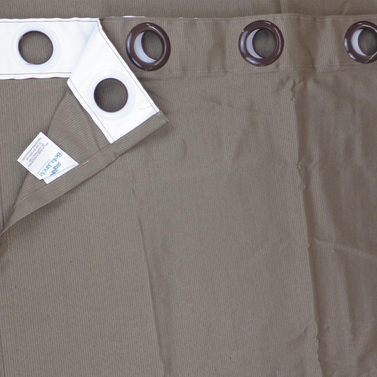 Cortina Para Sala Rústica Pantex Caqui 2,60 x 1,70 Bella Janela