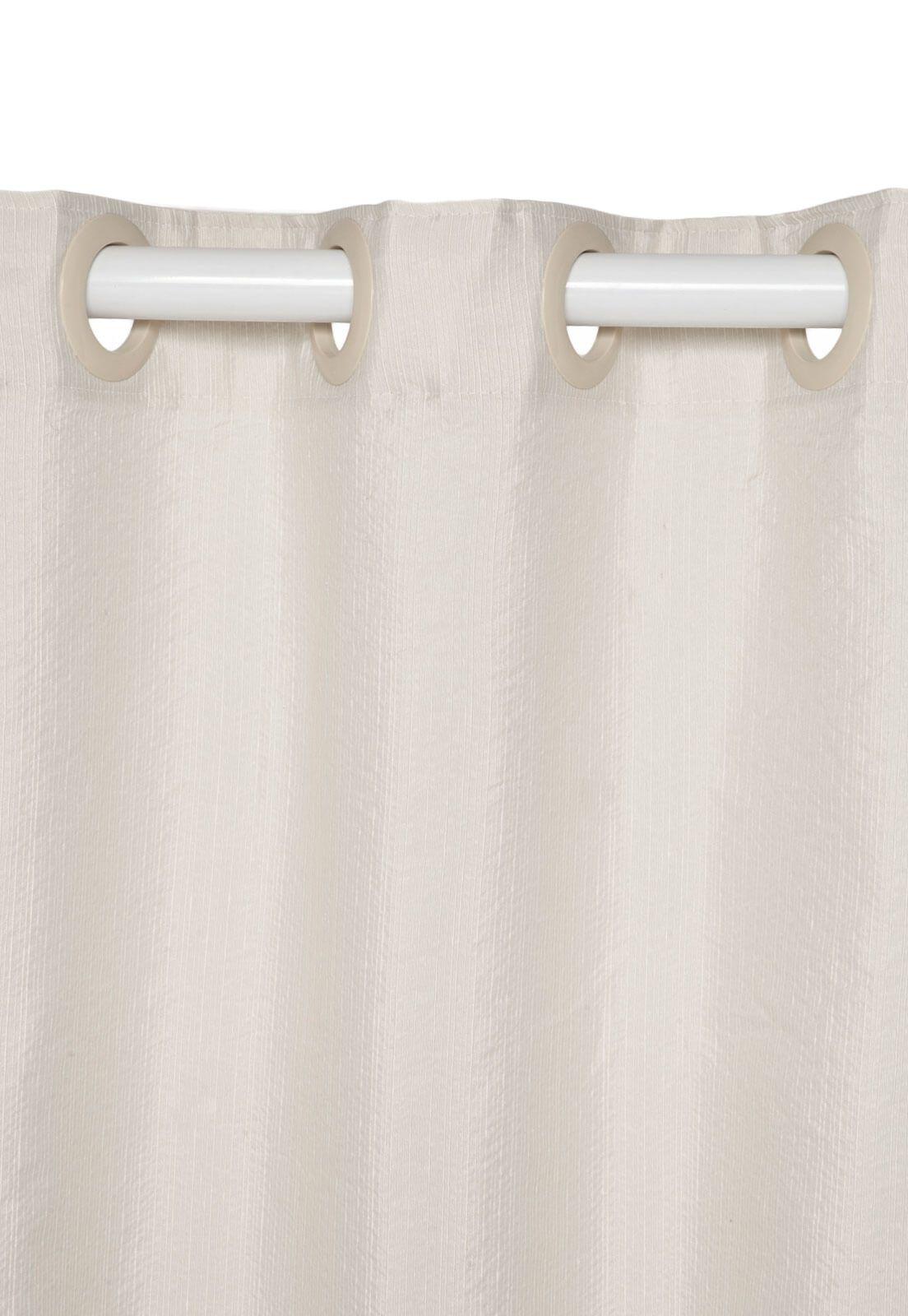 Cortina Rústica New Pantex Marfim 2,60 x 2,30 Bella Janela