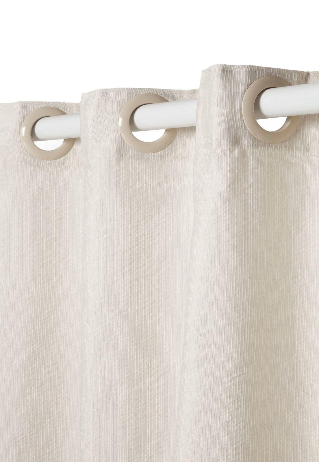 Cortina Rústica New Pantex Marfim 3,60 x 2,30 Bella Janela