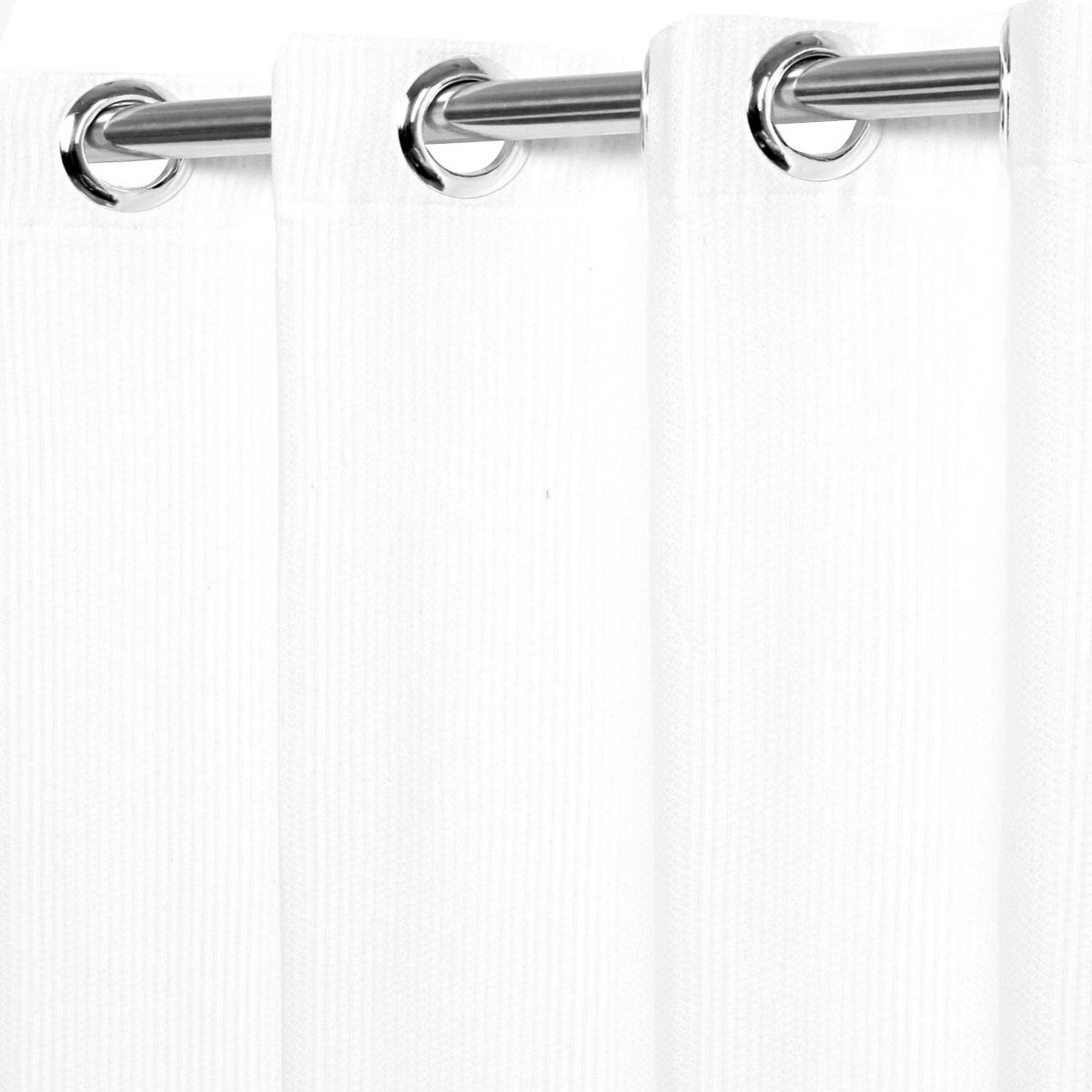 Cortina Rústica Sevilha Branca 3,00 x 2,30 Bella Janela