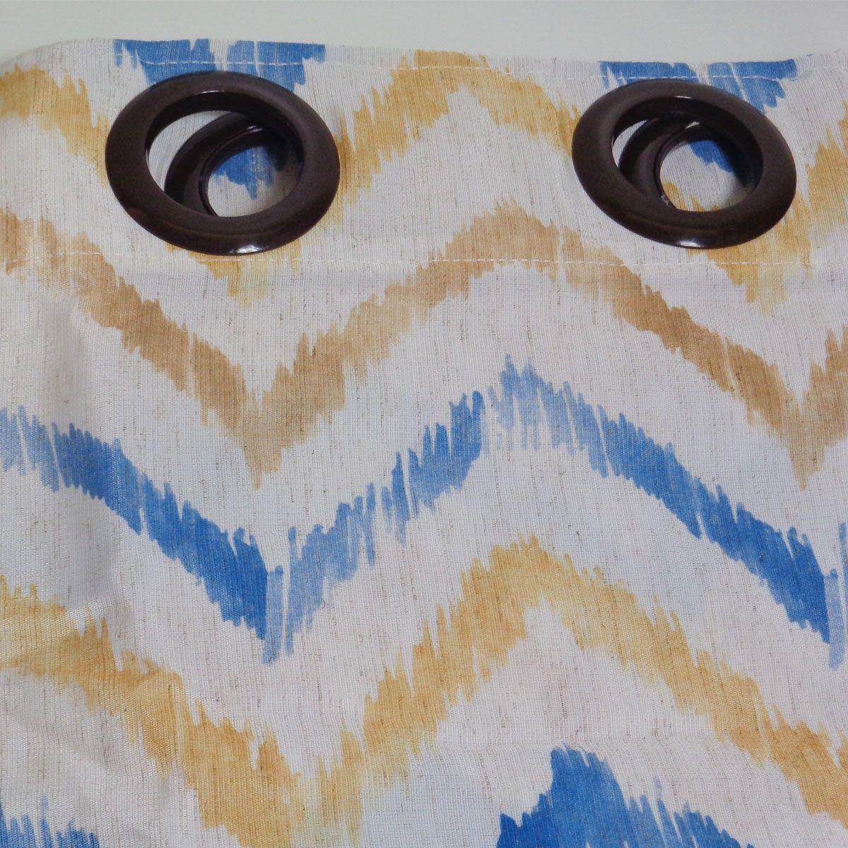 Cortina Sala Rústica Spazio Zig Zag 2,60 x 1,70 Bella Janela