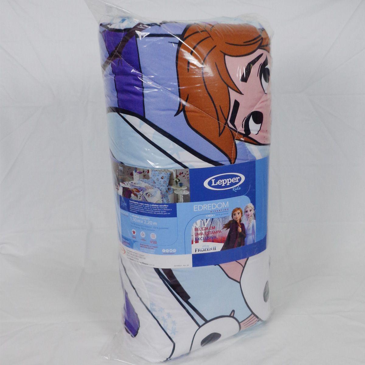 Edredom Infantil Menina Frozen Elsa E Anna Disney Lepper