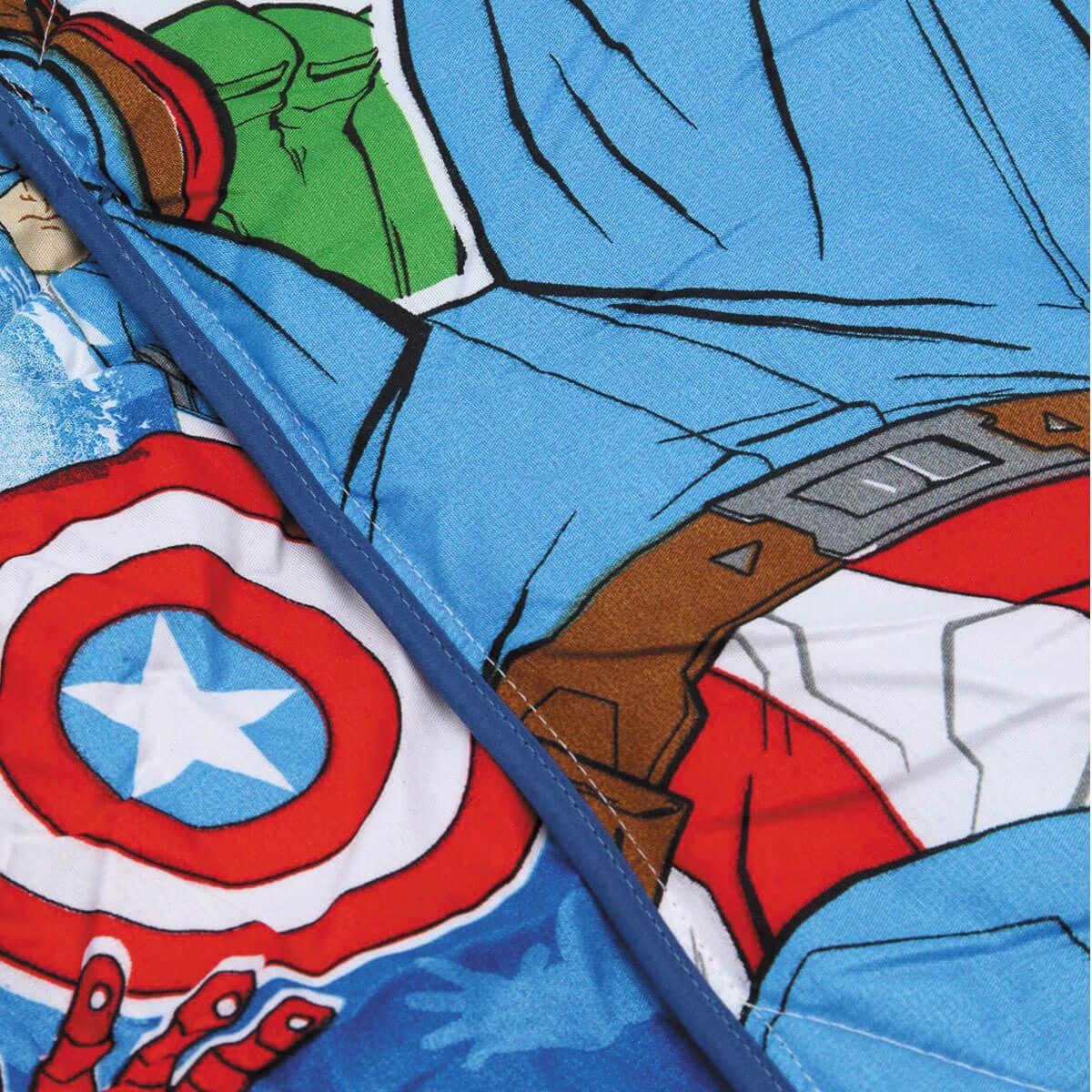 Edredom Infantil Solteiro Avengers Vingadores Lepper