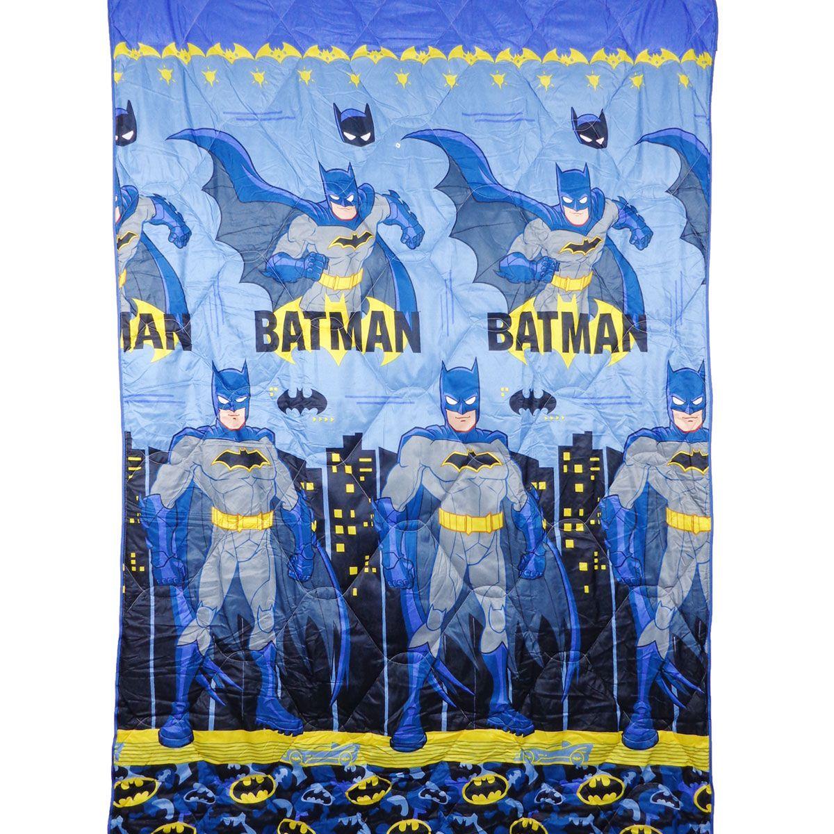 Edredom Infantil Solteiro Azul Batman Lepper