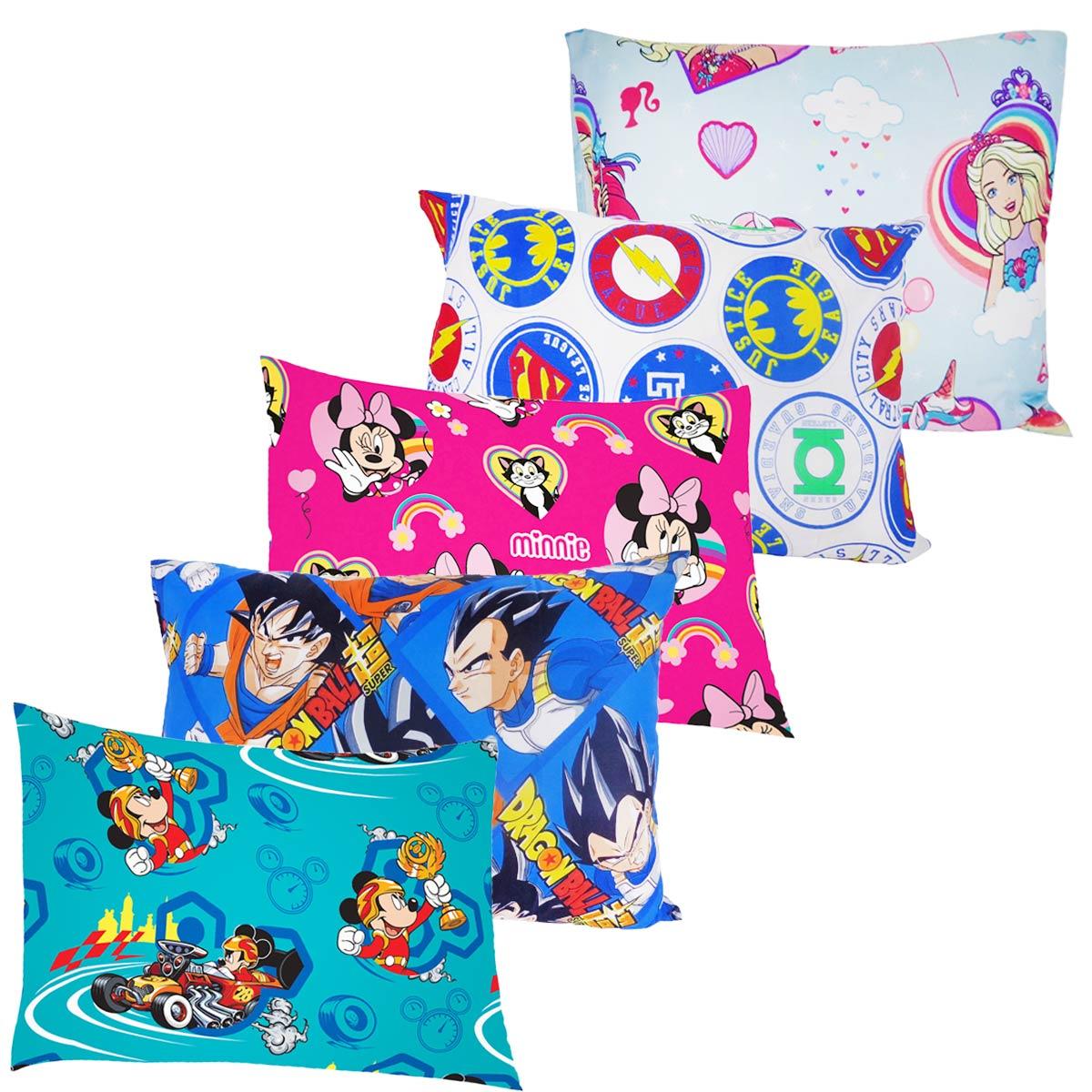 Fronha Infantil Estampada Personagens Disney De Poliéster Avulsa Microfibra 50 cm x 70 cm Lepper