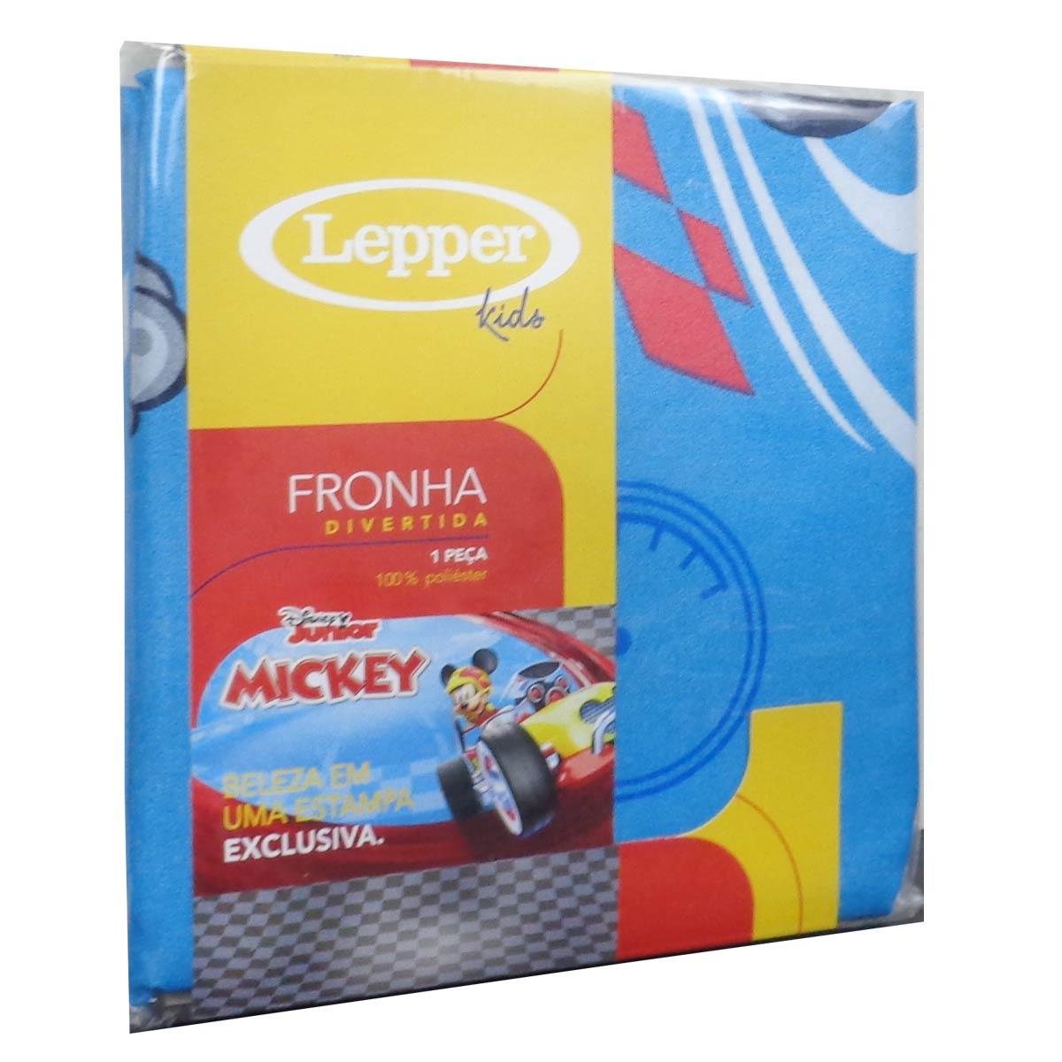 Fronha Microfibra De Poliéster Estampada Mickey Avulsa 50 cm x 70 cm
