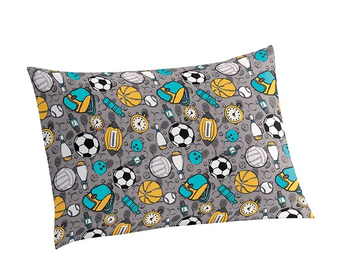 Fronha Sports Juvenil Estampada Bola Futebol 50 cm x 70 cm 1 Peça