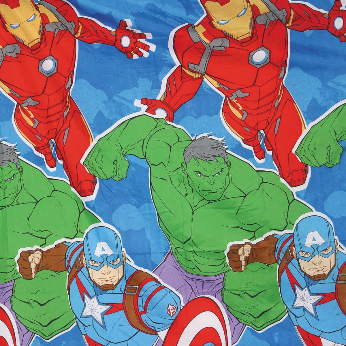 Jogo De Cama Infantil Avengers Vingadores 3 Peças Lepper