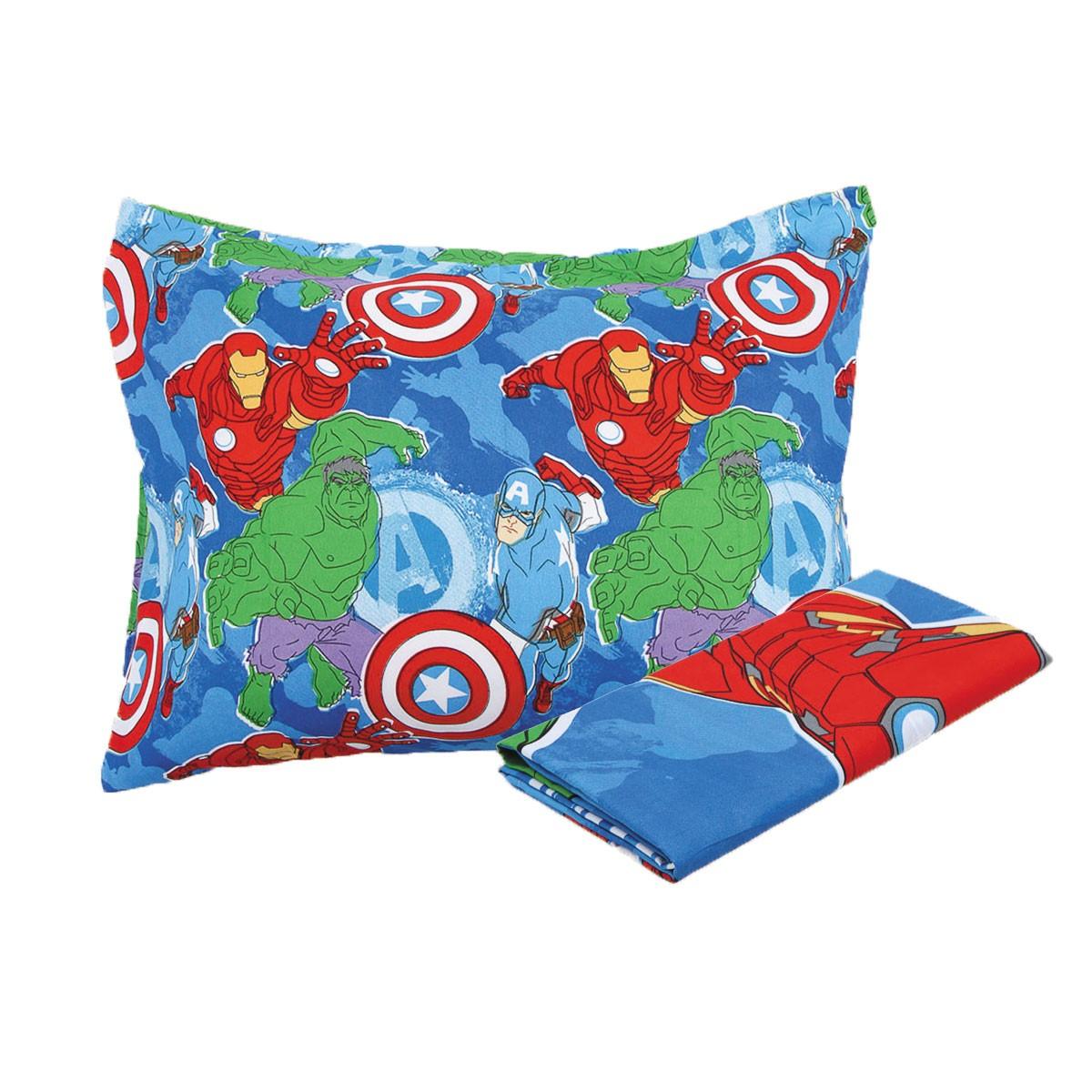 Jogo De Cama Infantil Avengers Vingadores Menino 3 Peças Lepper