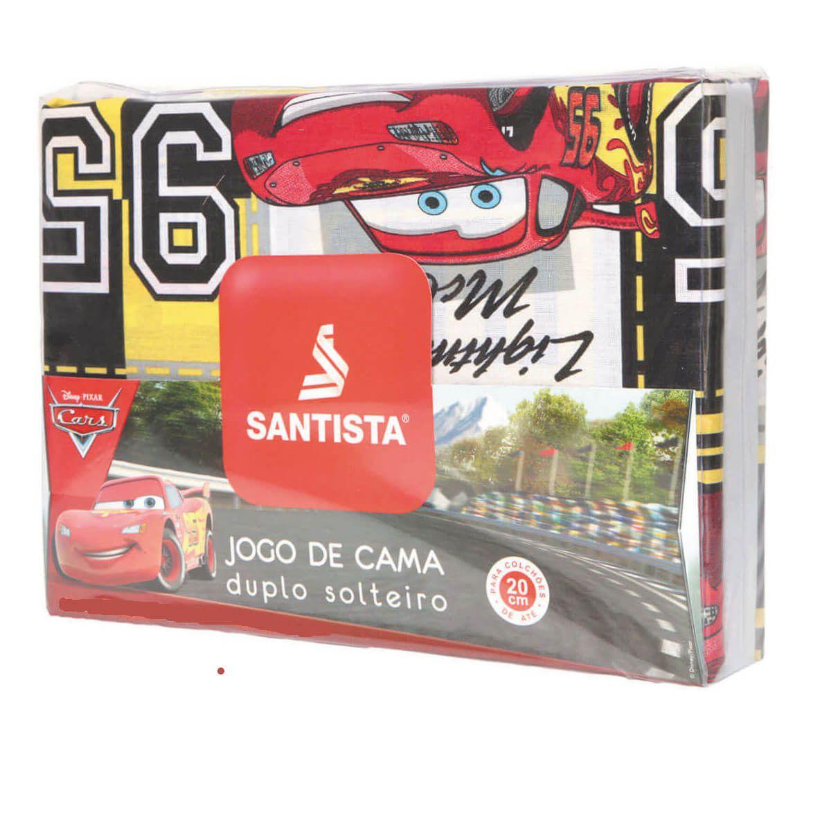 Jogo De Cama Infantil Carros Champions 3 Peças Santista