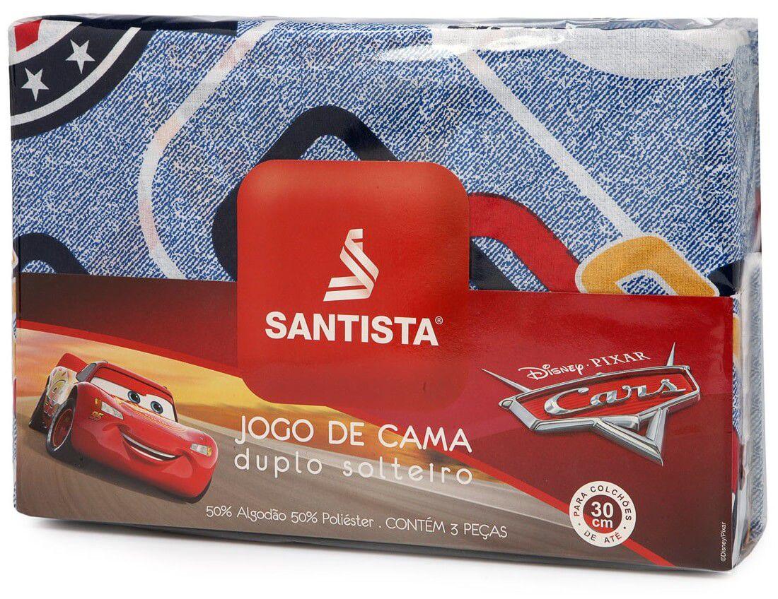 Jogo De Cama Infantil Carros Cup 3 Peças Santista
