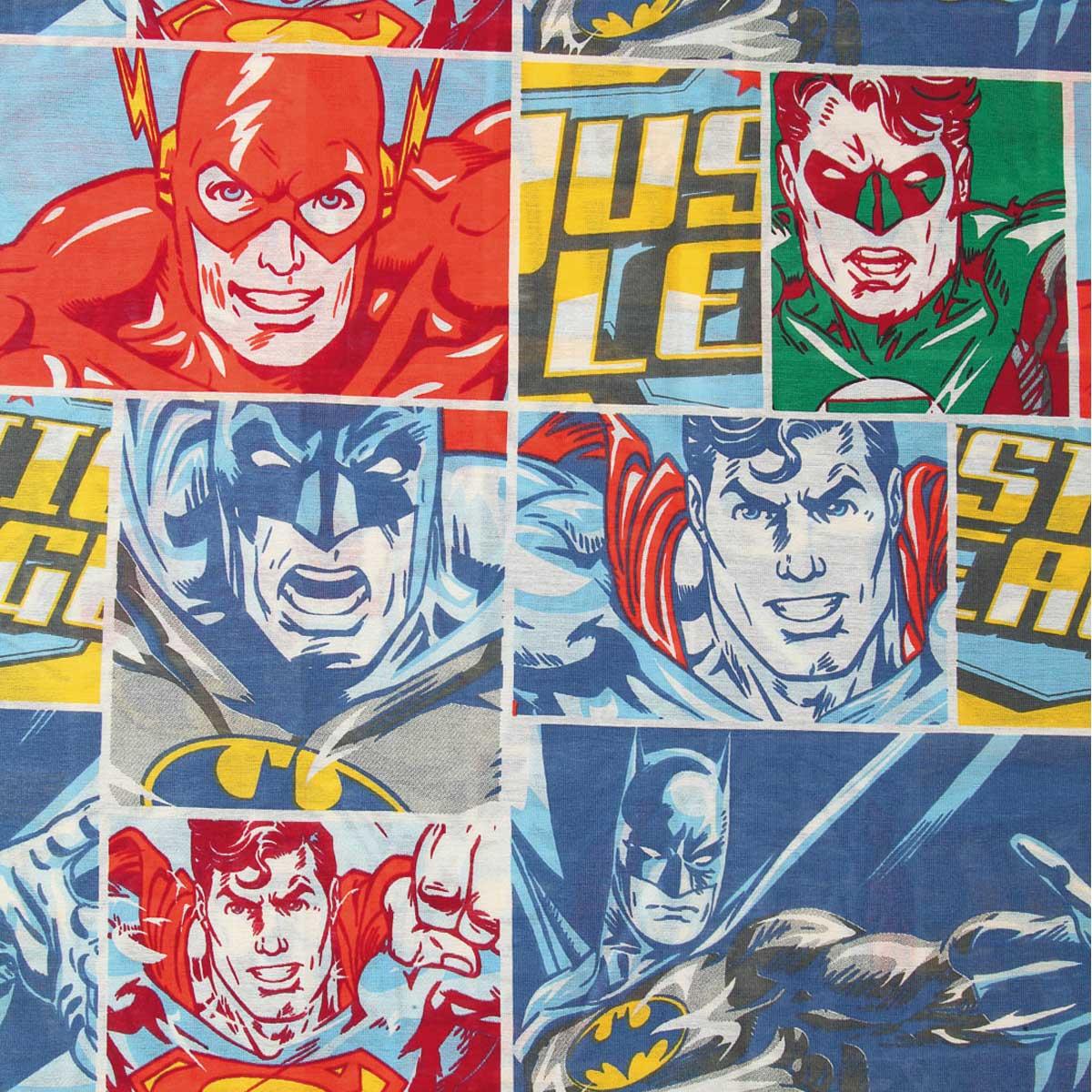 Jogo De Cama Infantil Heróis Liga Da Justiça Menino 2 Peças Lepper