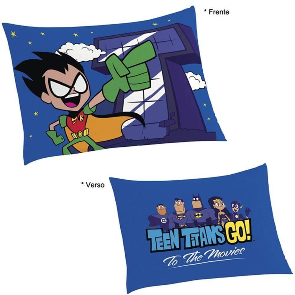 Jogo De Cama Infantil Herois Teen Titans Go 2 Peças Lepper