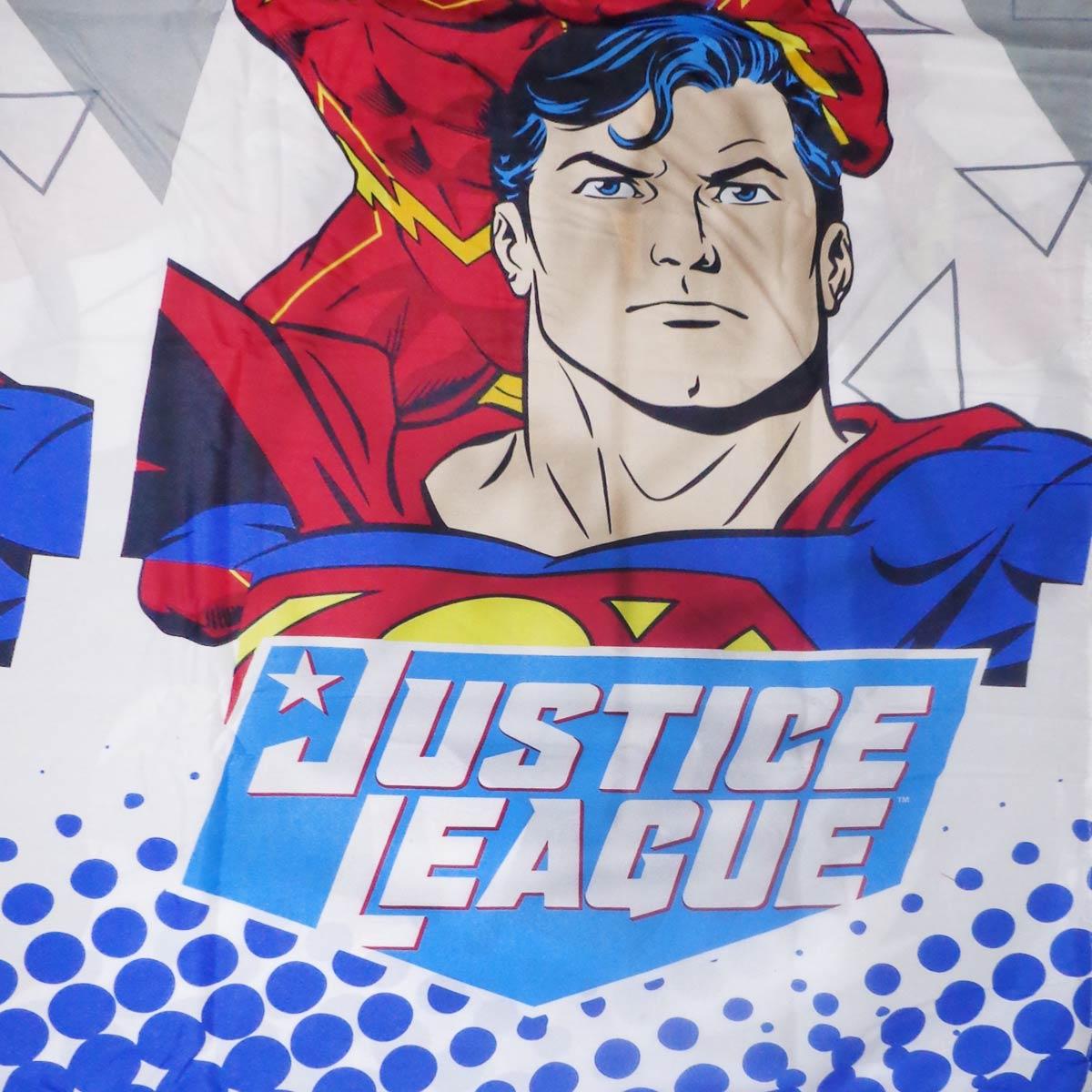 Jogo De Cama Infantil Heróis Liga da Justiça Menino 3 Peças Lepper