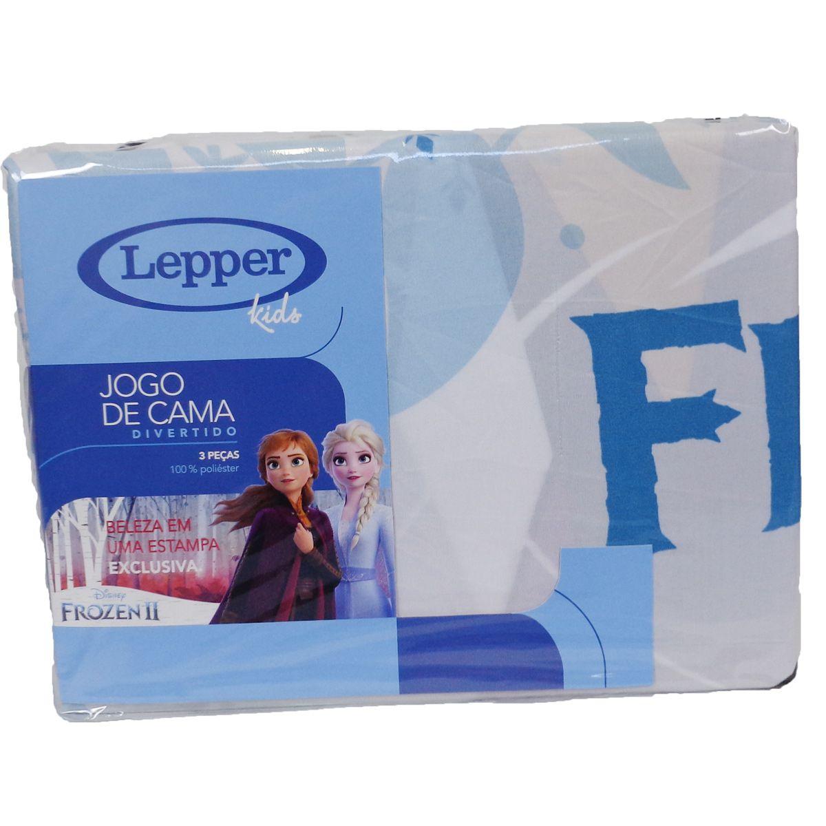 Jogo De Cama Infantil Menina Frozen Microfibra 3 Peças Lepper