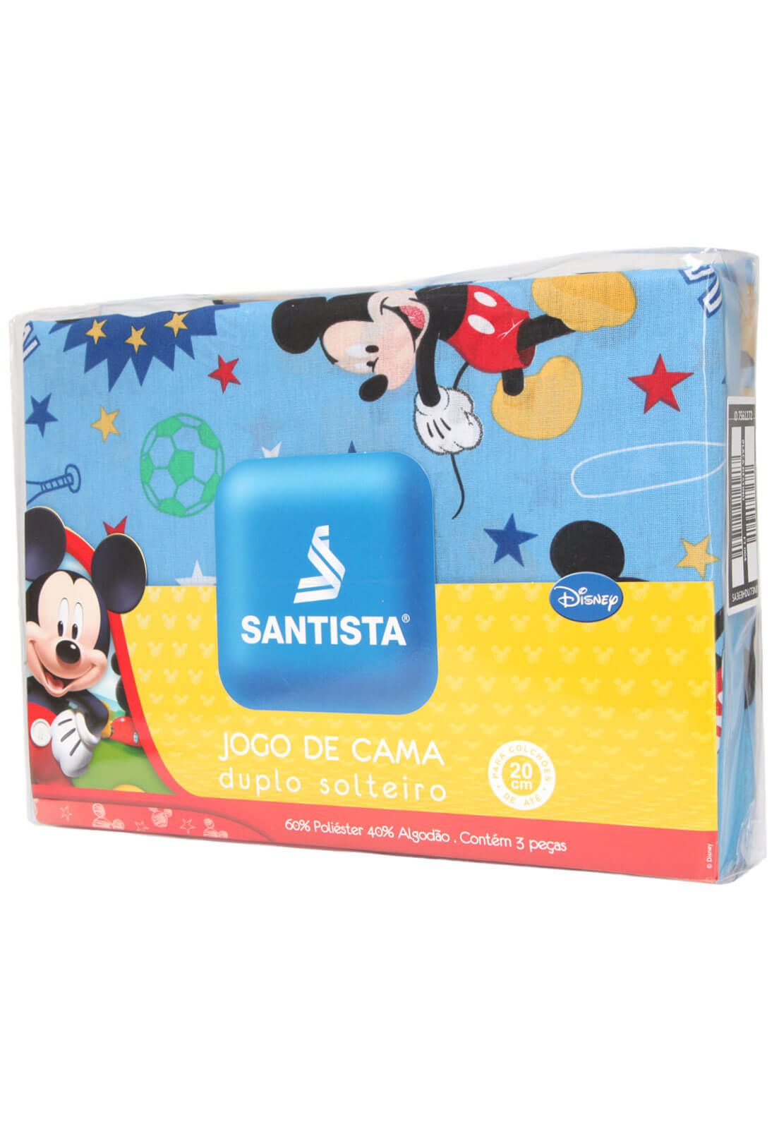Jogo De Cama Infantil Mickey Happy 3 Peças Santista