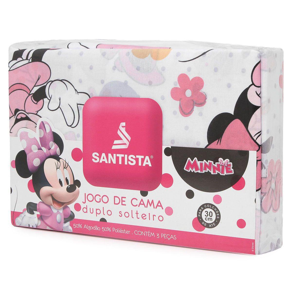 Jogo De Cama Infantil Minnie Happy 3 Peças Santista
