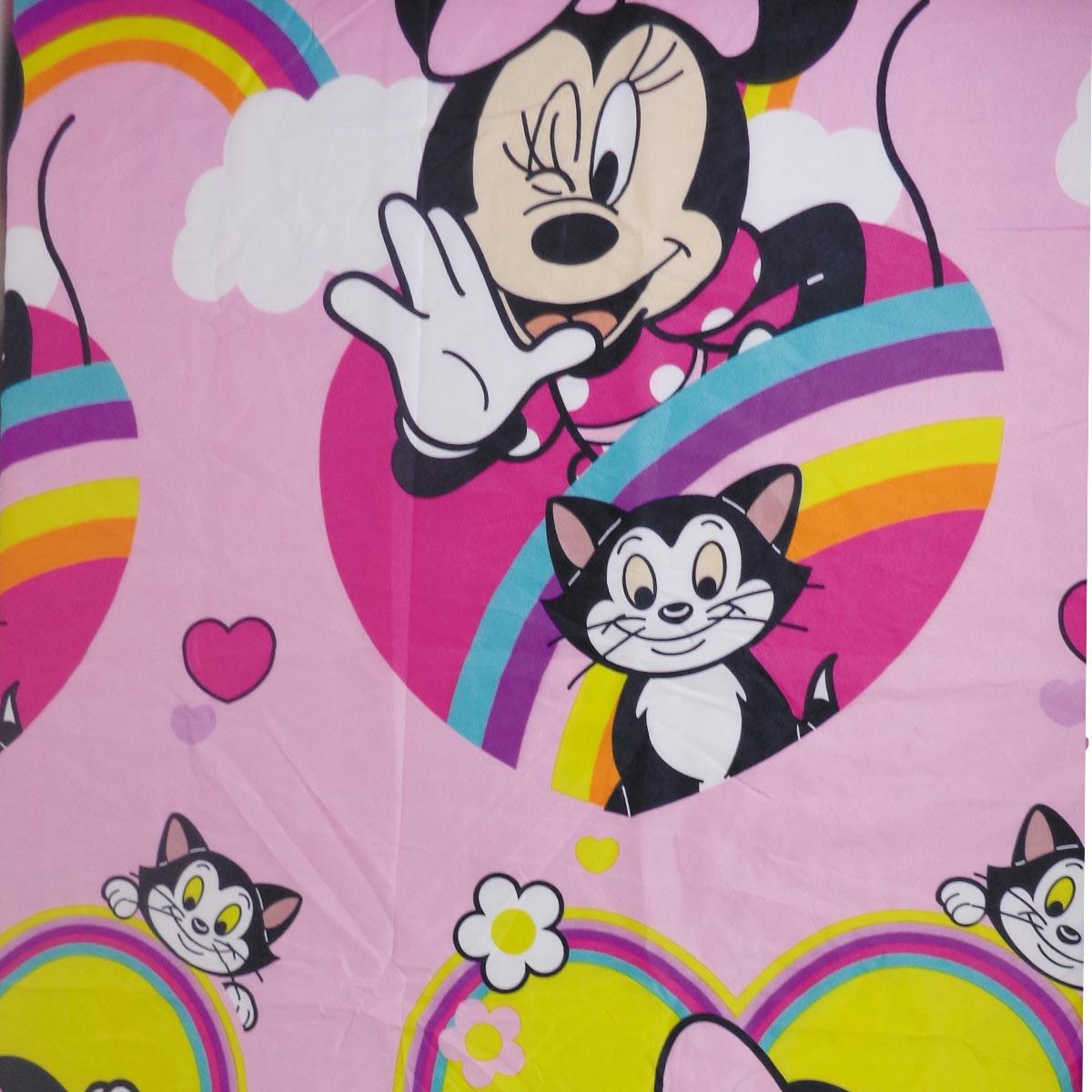 Jogo De Cama Infantil Minnie Mouse Rosa 3 Peças Lepper