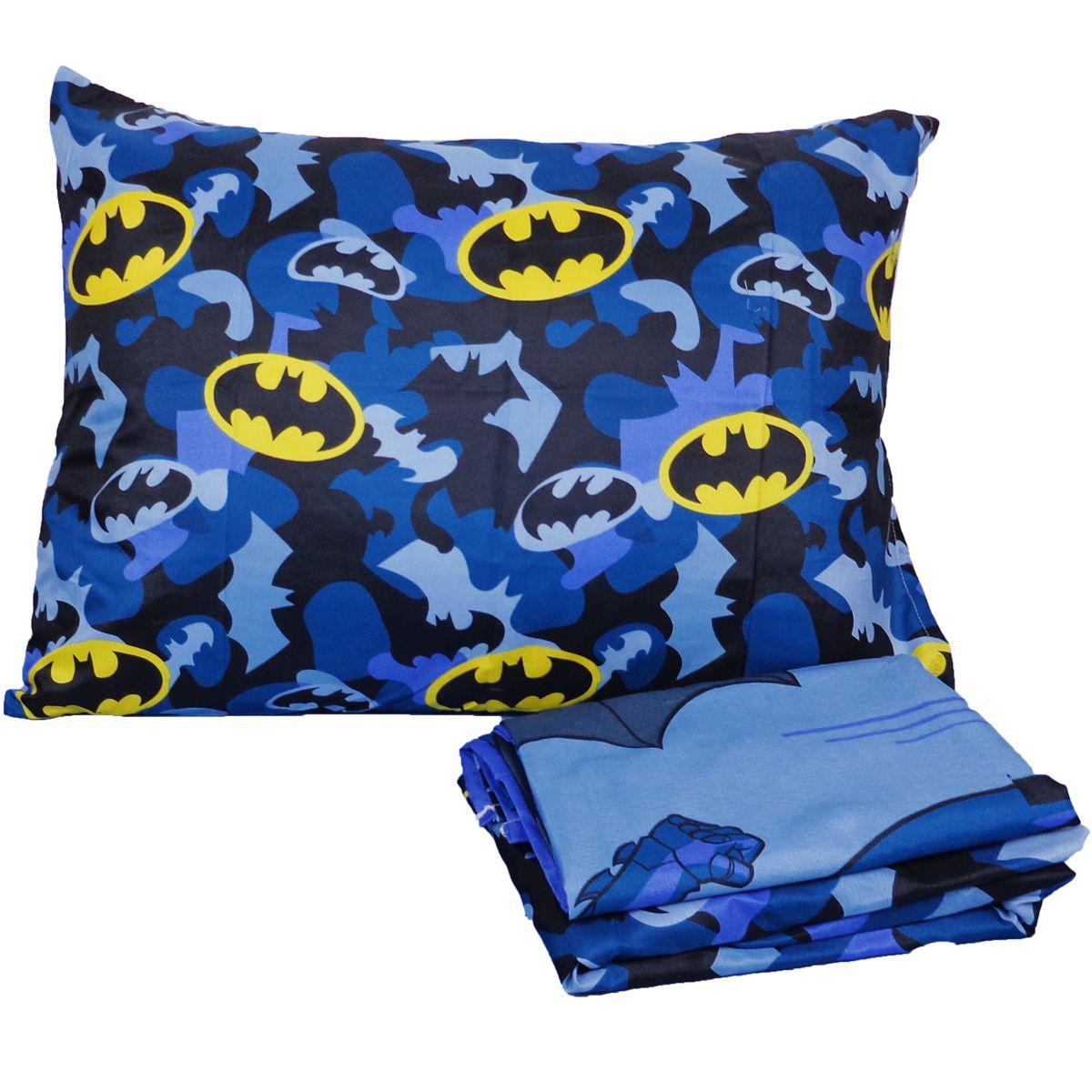 Jogo De Cama Infantil Personagem Batman 3 Peças Lepper
