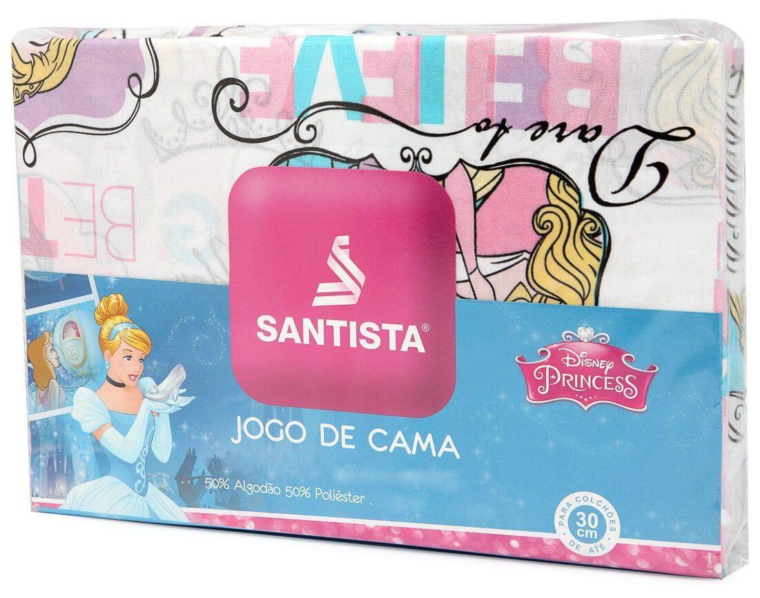 Jogo De Cama Infantil Princesa Power 3 Peças Santista