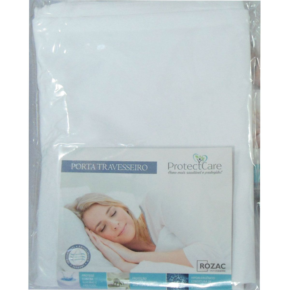 Kit 2 Fronhas Impermeável Tecido Malha - Porta Travesseiro - Protect Care Rozac Antialérgico