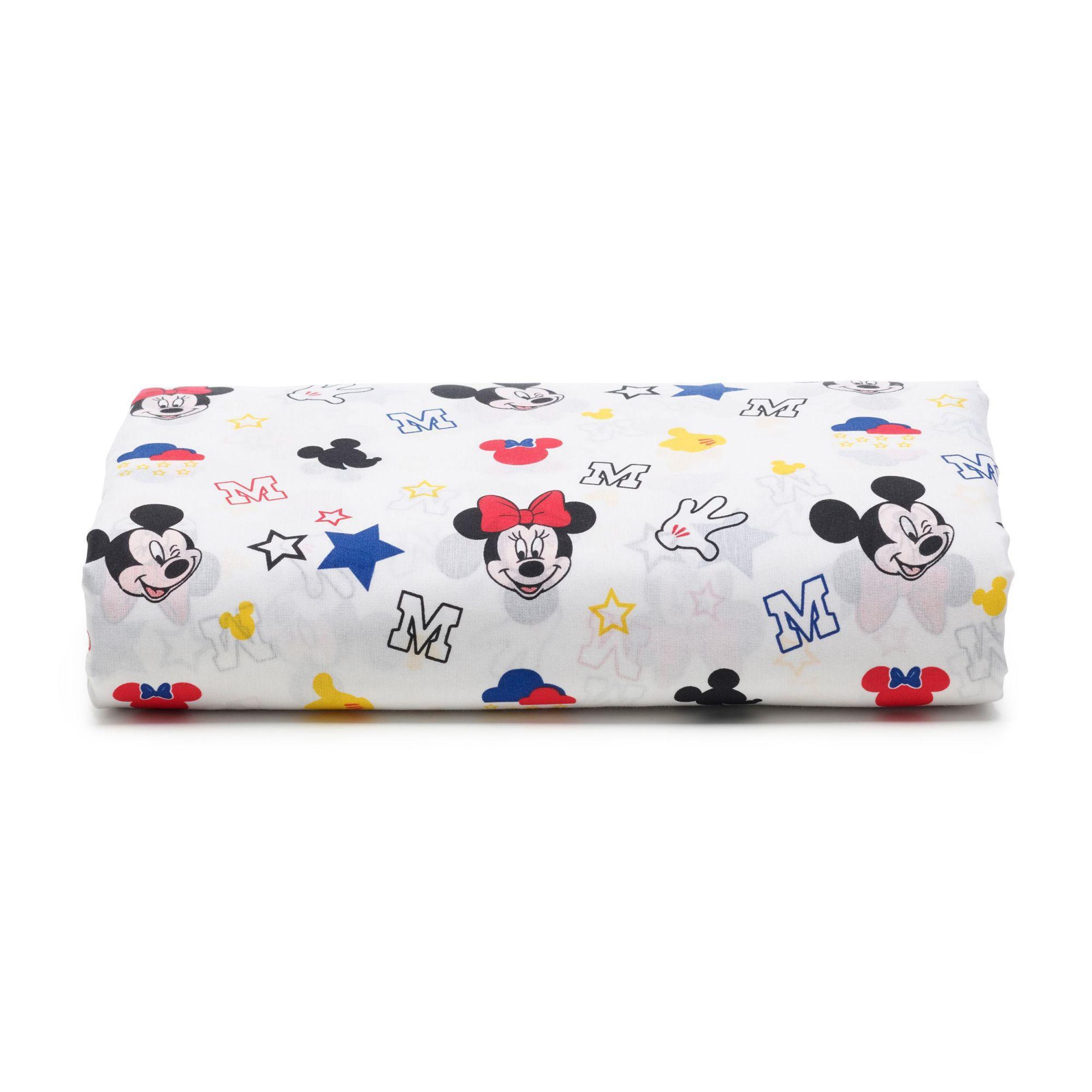 Kit 2 Lençois Infantil Mickey Play E Stick Com Elástico Santista