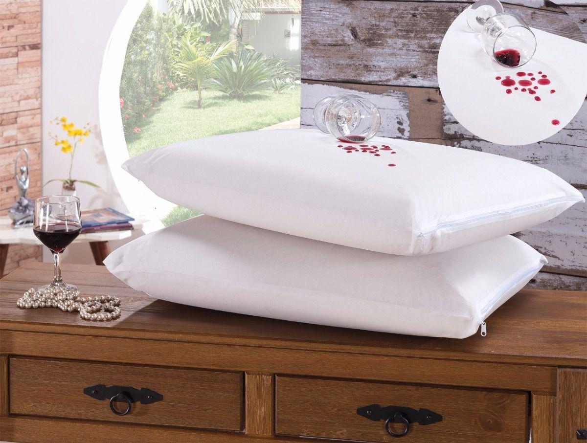 Kit 4 Fronhas Impermeável Tecido Malha - Porta Travesseiro - Protect Care Rozac Antialérgico