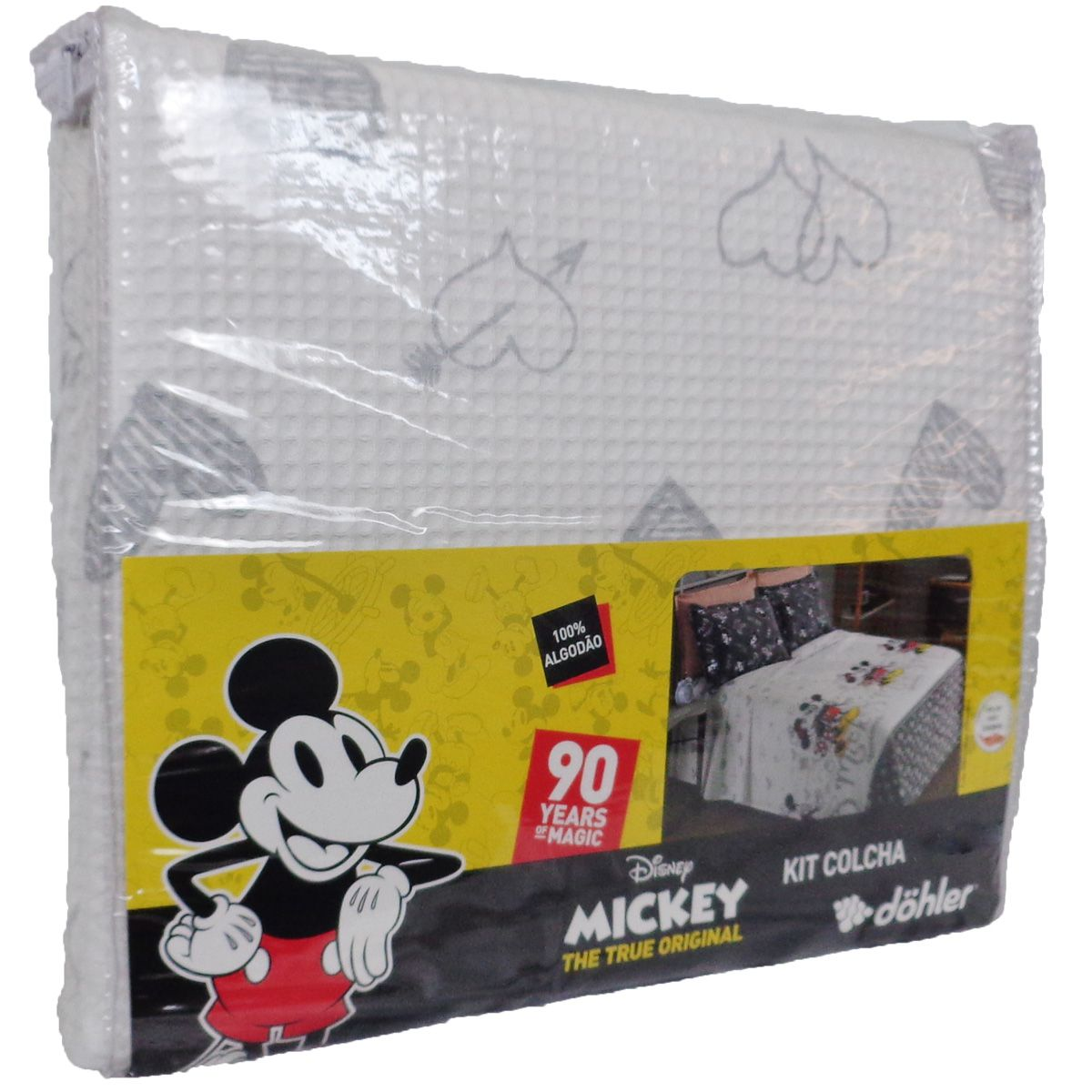 Kit Colcha Casal Piquet Mickey E Minnie 3 Peças Algodão Dohler