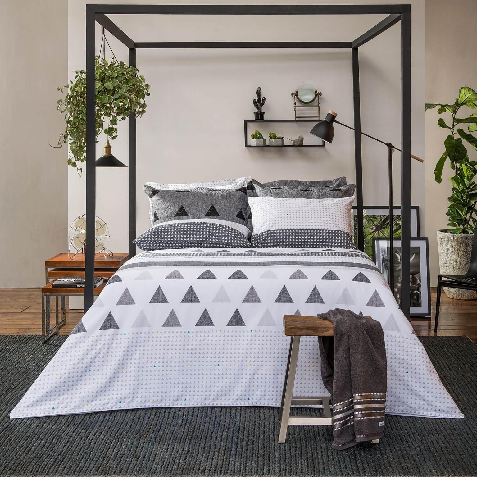 Kit Colcha Cobre Leito Solteiro King Home Design Memphis Puro Algodão 2 Peças Santista