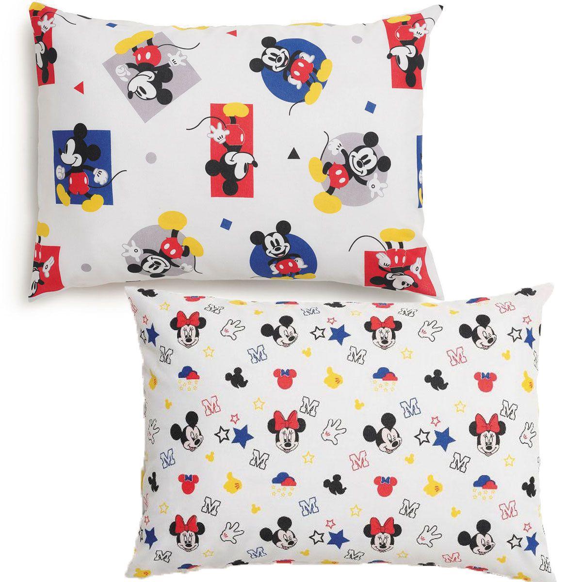 Kit Com 2 Fronhas Infantil Mickey Play E Stick 50 x 70 Santista
