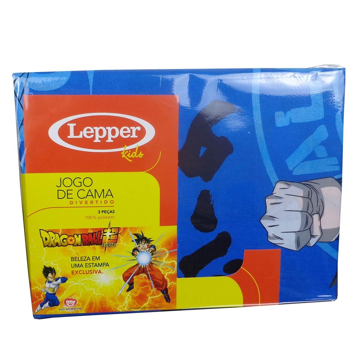 Kit Infantil Dragon Ball Menino Edredom + Jogo De Cama Lepper