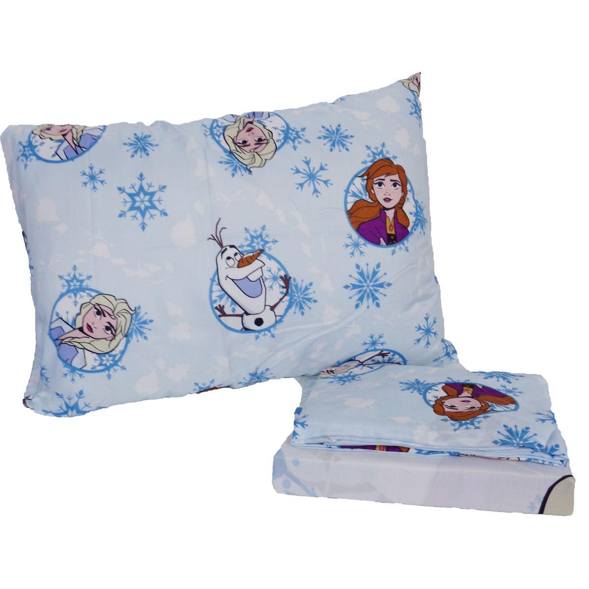 Kit Infantil Frozen Cortina + Jogo De Lençol 3 Peças Lepper