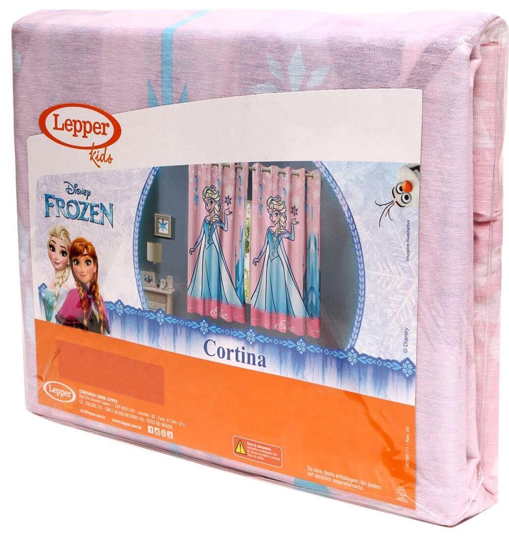 Kit Infantil Frozen Edredom + Cortina + Jogo De Lençol Lepper