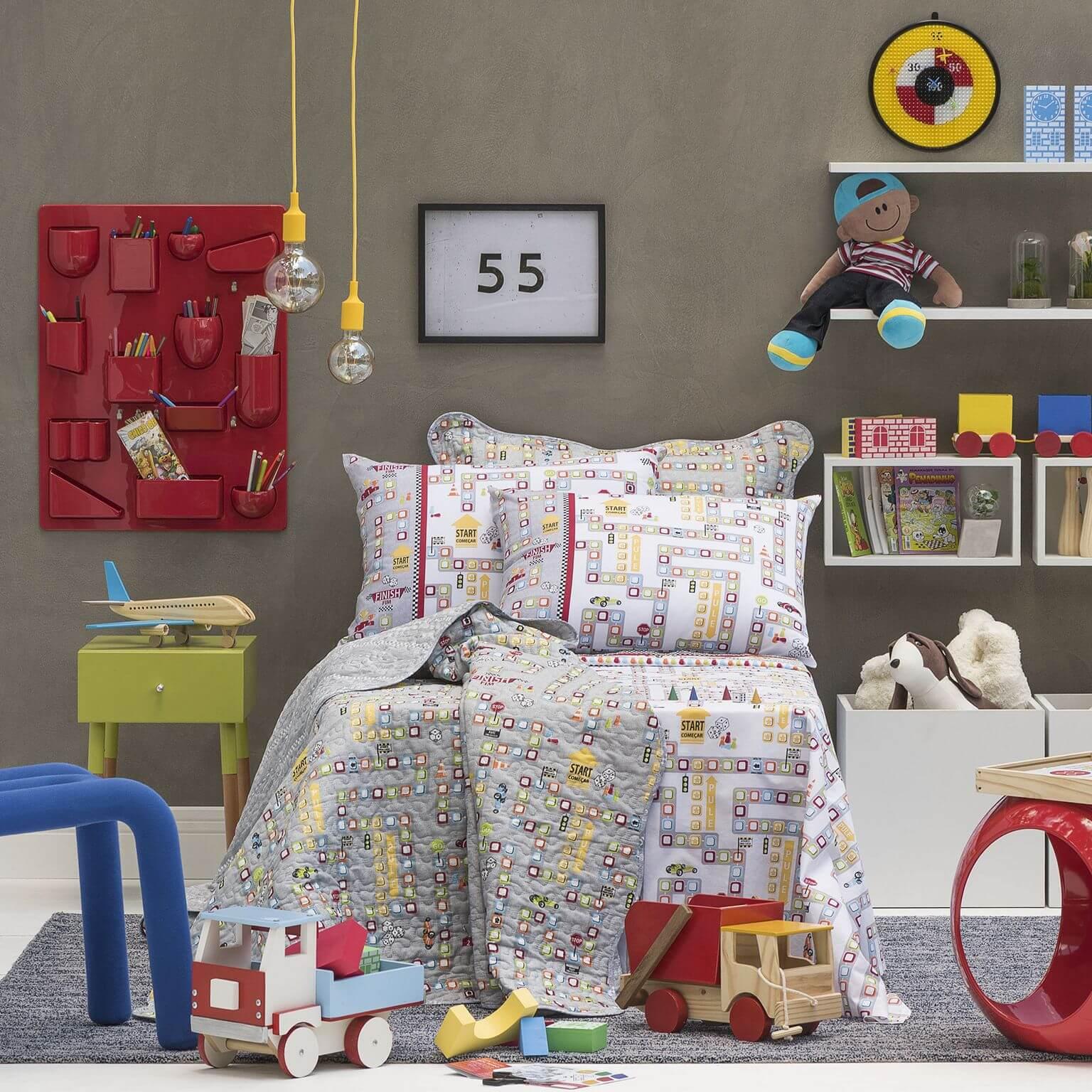 Kit Infantil Game Jogo De Cama + Colcha Boutis Santista