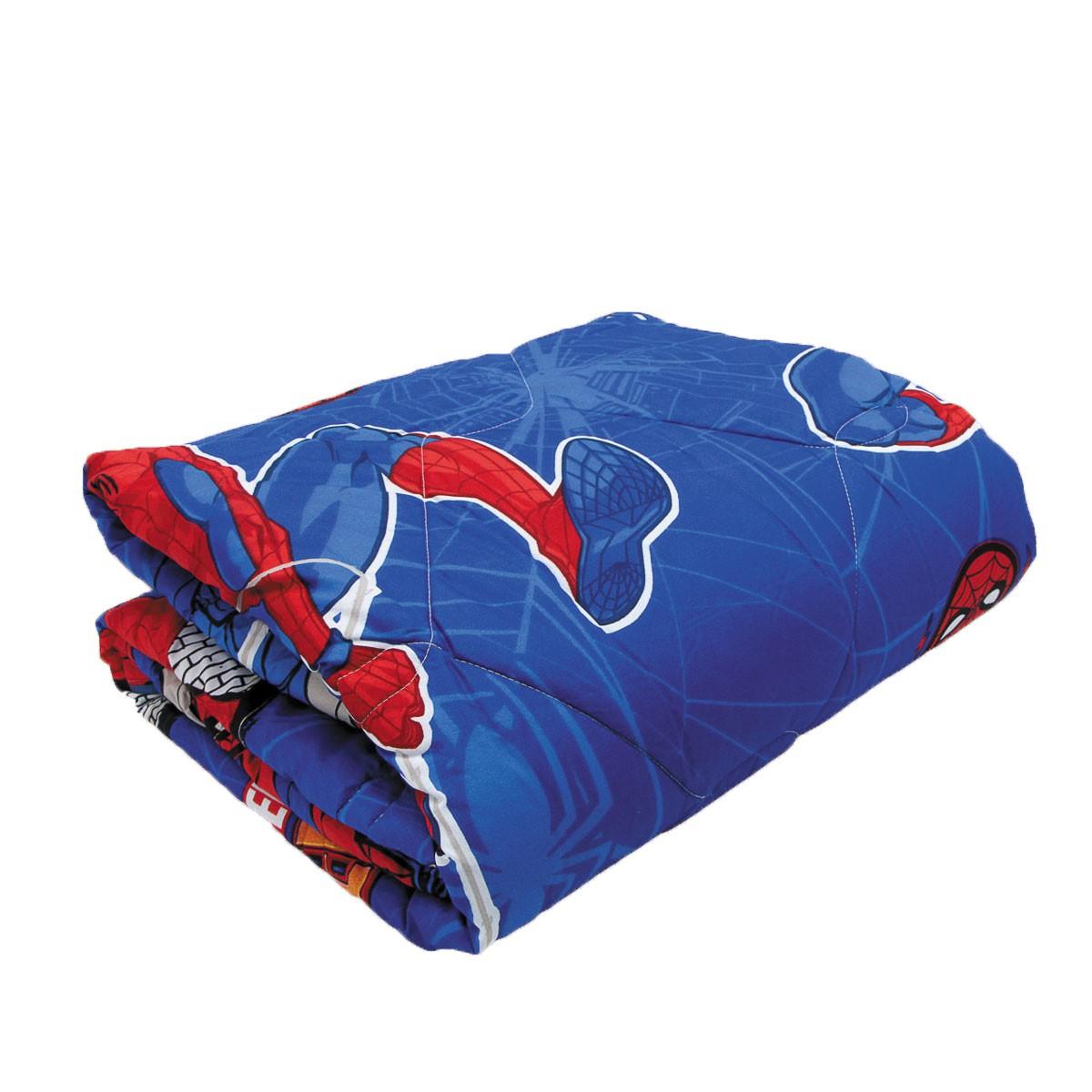 Kit Infantil Homem Aranha Spider Man Edredom + Jogo Cama + Cortina Lepper