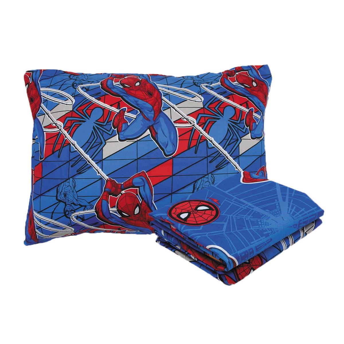 Kit Infantil Homem Aranha Spider Man Jogo Cama + Edredom Lepper
