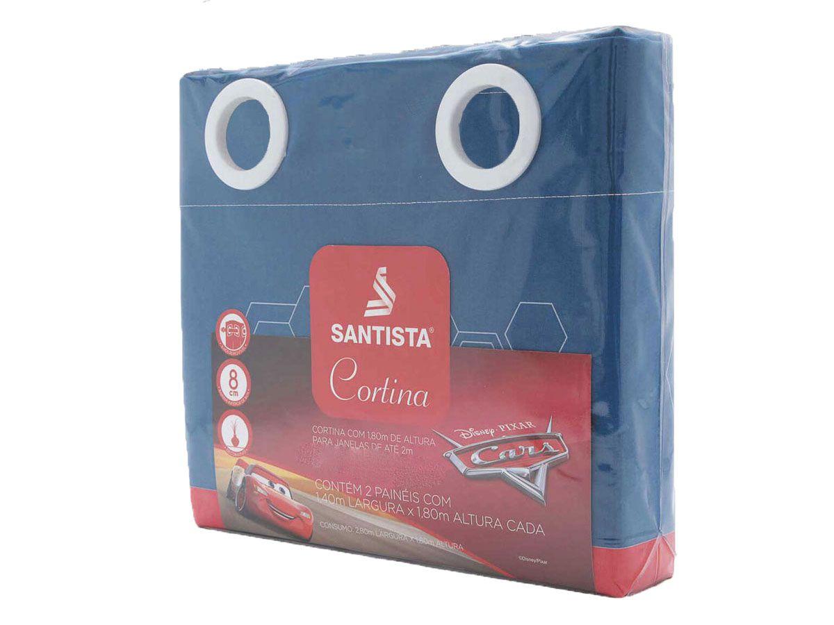 Kit Infantil Menino Carros Fast Mcqueen  Jogo De Cama + Cortina Santista