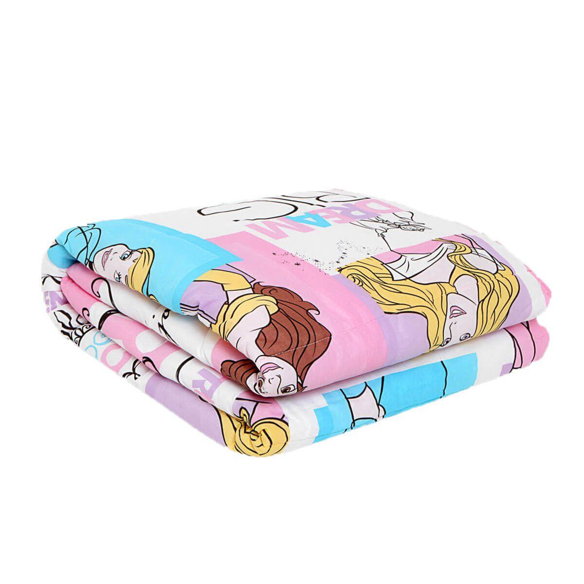 Kit Infantil Princesas Power Disney Edredom + Jogo De Cama Santista