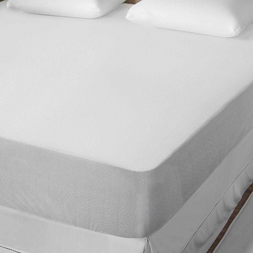 Kit Protetor De Colchão King + Fronhas Tecido Malha Impermeável Protect Care Rozac Antialérgico