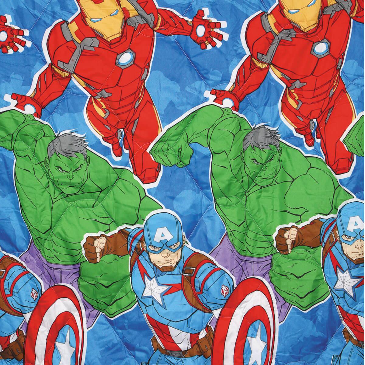 Kit Vingadores Avengers Edredom + Jogo De Cama Lepper