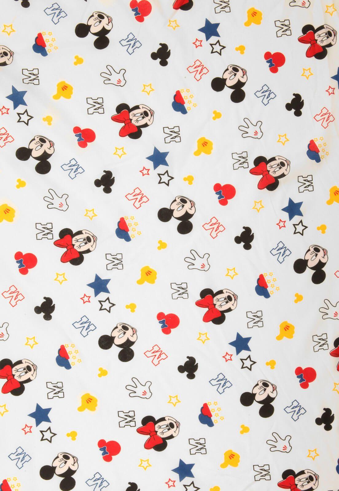 Lençol Infantil Mickey E Minnie Stick Avulso Com Elástico Santista