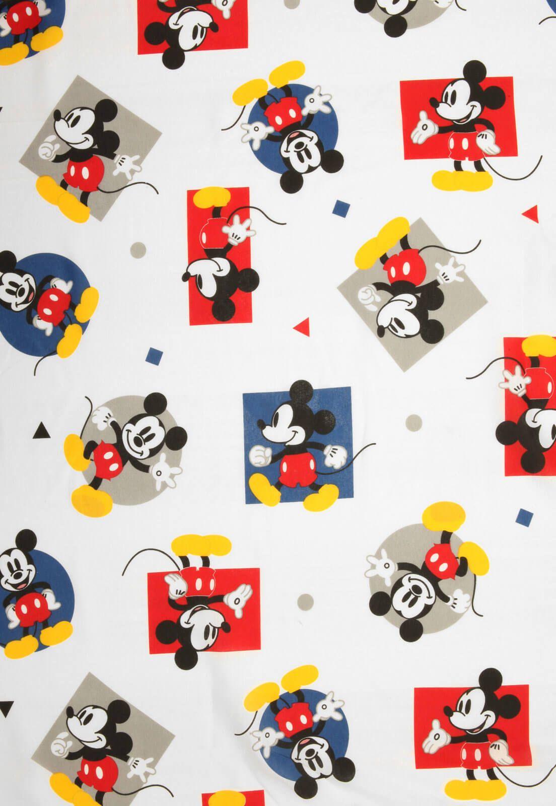 Lençol Infantil Mickey Play Avulso Com Elástico Santista