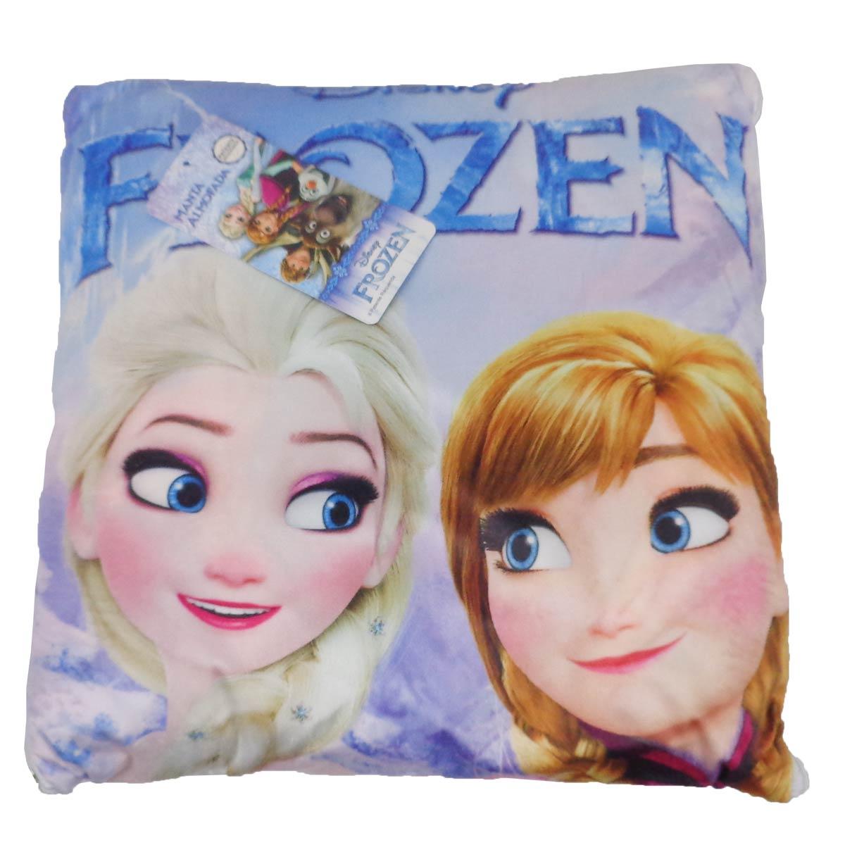 Manta Almofada Infantil Frozen Menina Microfibra Jolitex