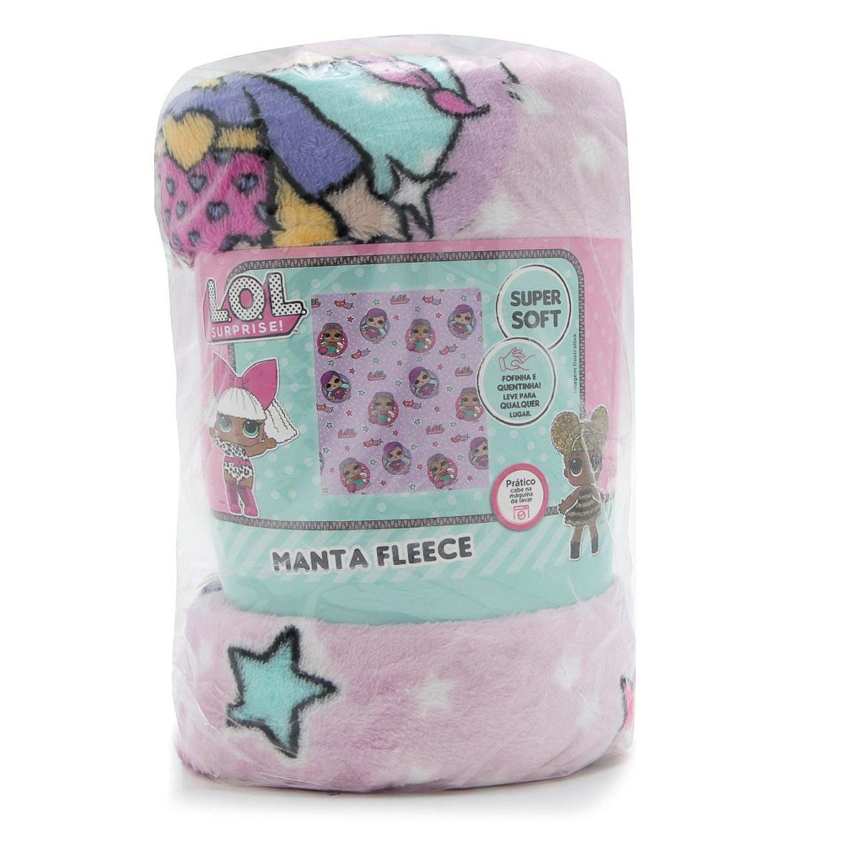 Manta Infantil Lol Surprise Lilás Super Soft Fleece Lepper