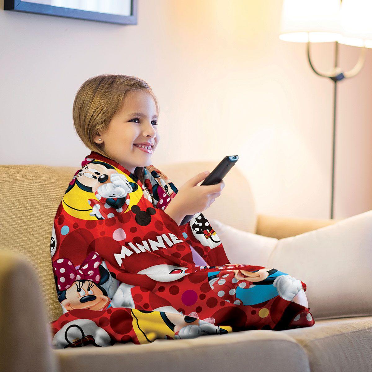 Manta Infantil Minnie Vermelha Super Soft Fleece Lepper