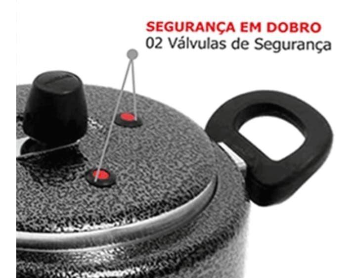 Panela De Pressão 5 Litros Reforçada 2 Válvulas De segurança Patolux