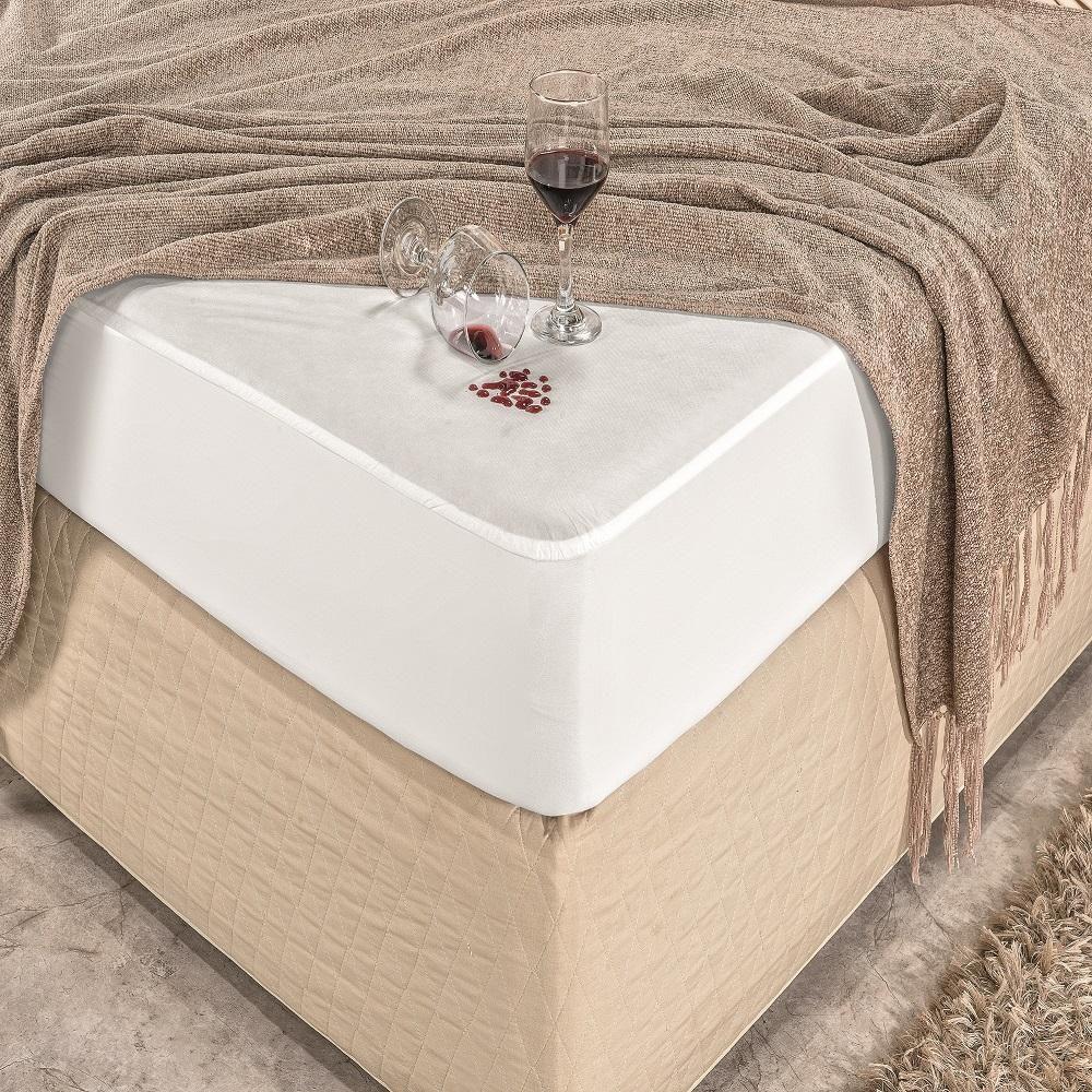 Protetor De Colchão Queen Size Tecido Malha Impermeável Protect Care Rozac Antialérgico