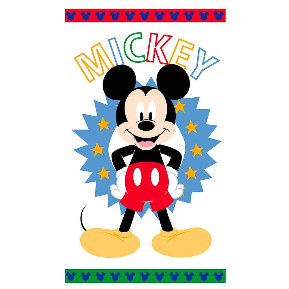 Toalha De Banho Infantil Mickey Happy Felpuda 100% Algodão Santista