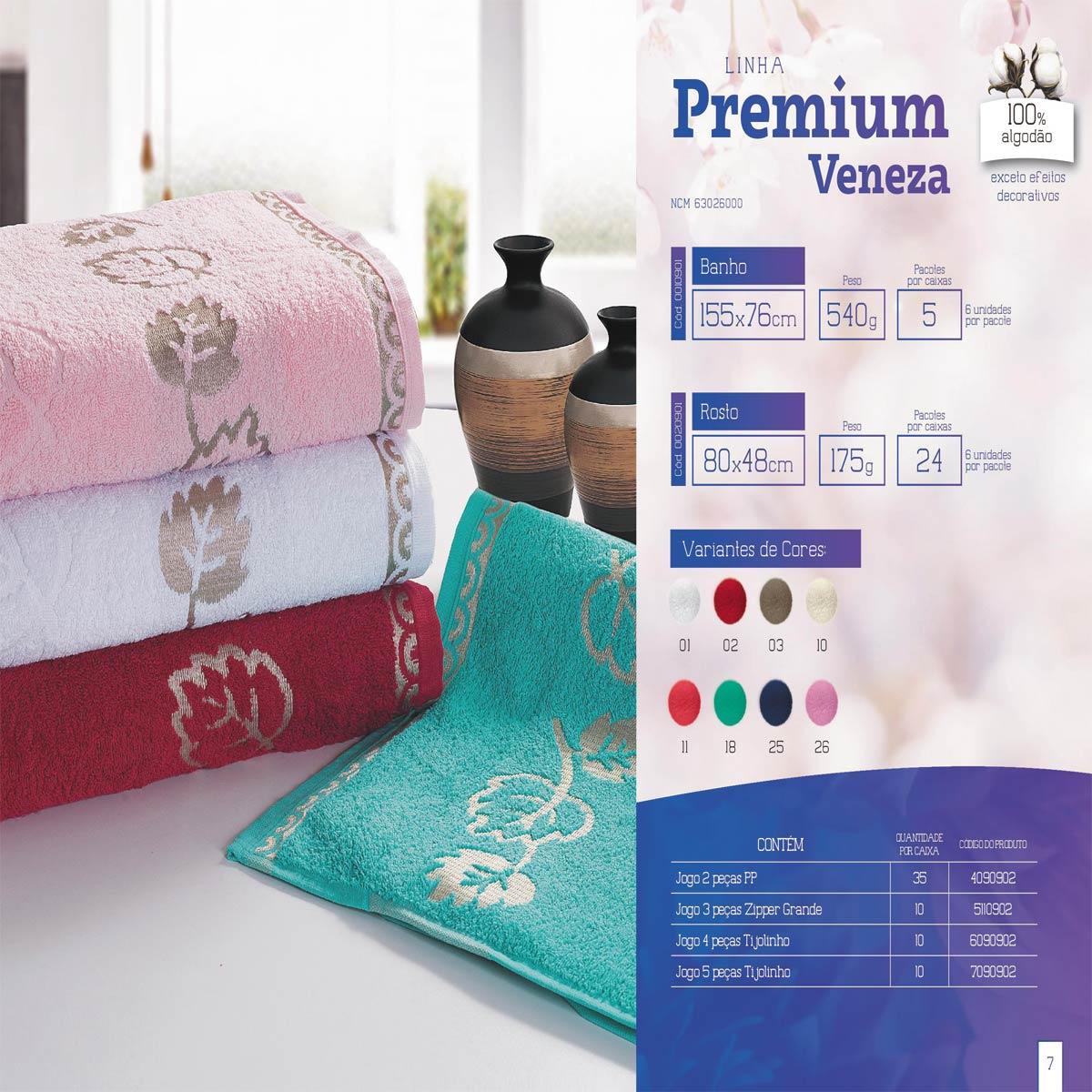 Toalha De Rosto Veneza Premium 100% Algodão 80Cm x 48Cm Mafratex