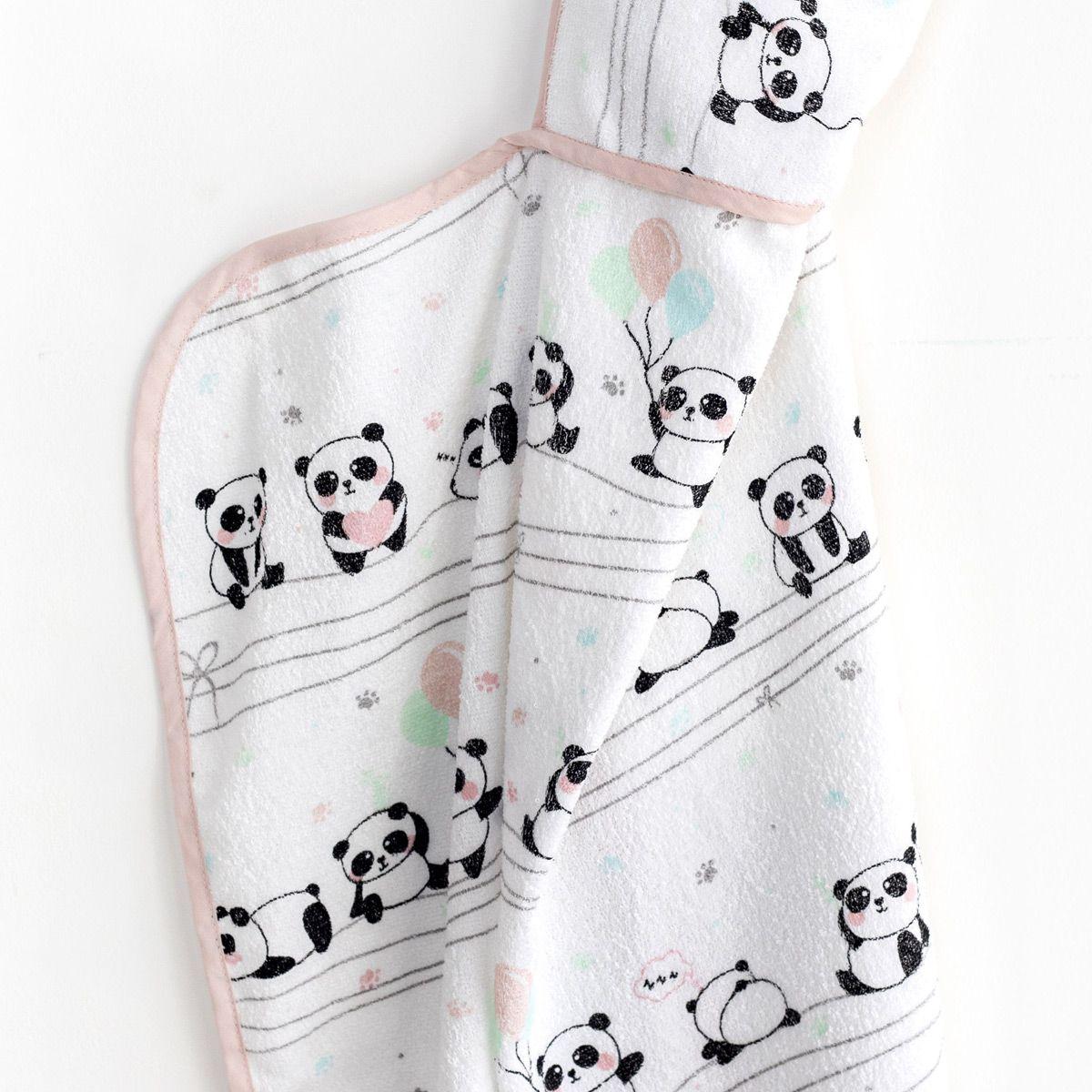 Toalha Infantil Panda Baby Com Capuz Santista